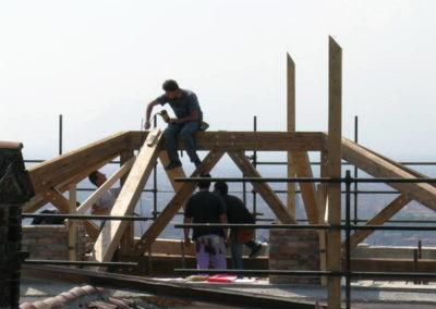 Villa del '700 - Nuove coperture in legno
