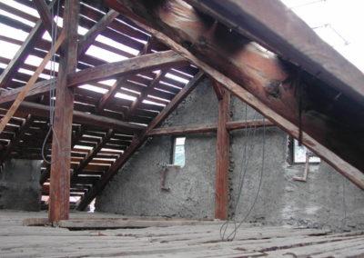 Maison du Village - La copertura prima dell'intervento