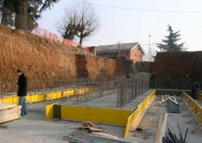 Villa Giovine - Parcheggi interrati - Fondazioni