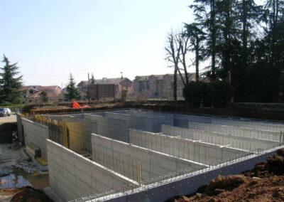 Villa Giovine - Parcheggi interrati - Setti in c.a.