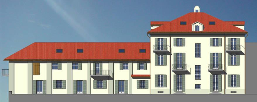 Villa Giovine - Prospetto Nord (render)