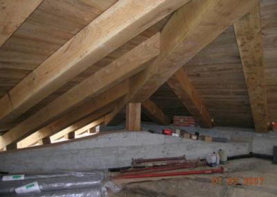 Villa Giovine - Nuovi tetti in legno