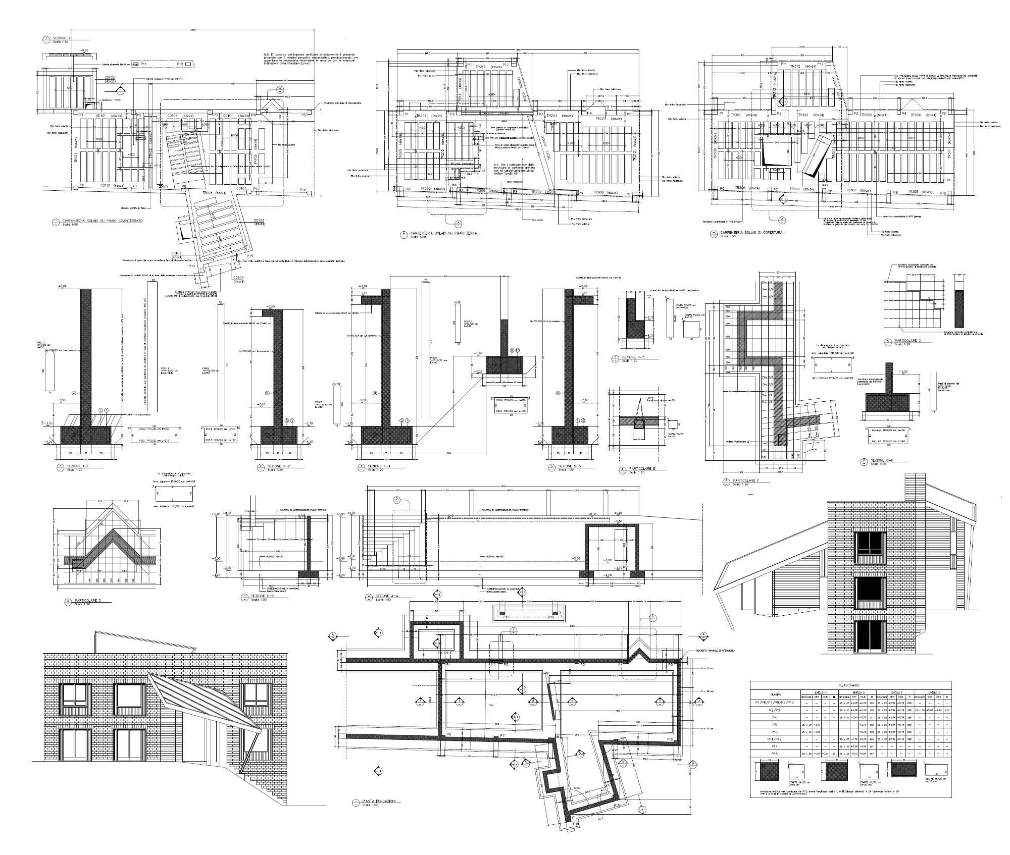 Casa unifamiliare a Borgosesia VC - Progetto esecutivo delle strutture
