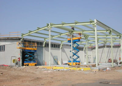 Supermercato GS di Lonate Pozzolo VA - Montaggio carpenteria