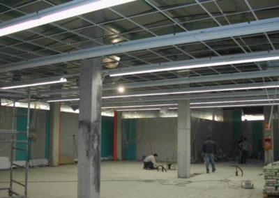 Supermercato GS di Lonate Pozzolo VA - Incamiciatura pilastri